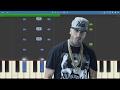nicky jam   el amante   piano tutorial   como tocar el amante