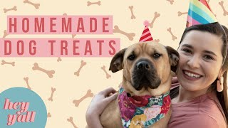DIY Dog Treats for an AMAZING Dog Party!!! | Basil Couldn't Get Enough | Hey Y'all