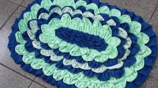 Tapete de Retalhos – How to make doormats using waste clothes