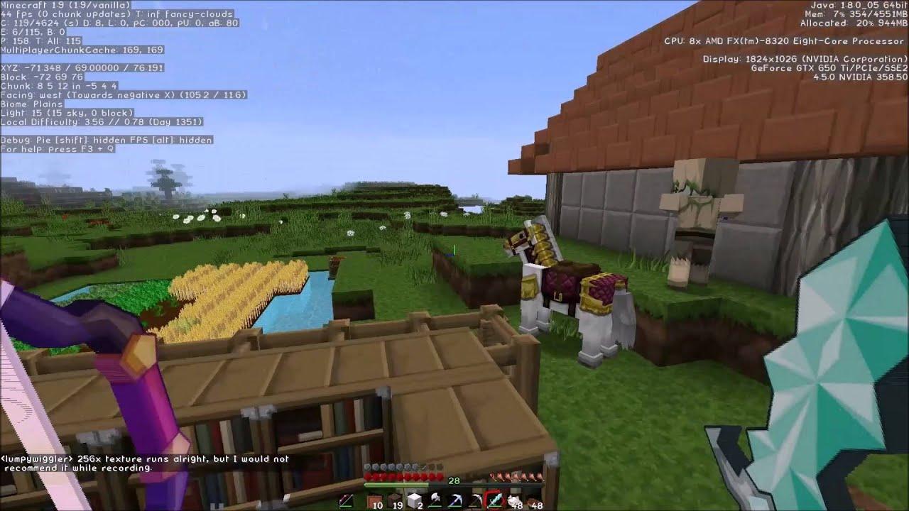 Nvidia Gtx 650 Ti Amd Fx 8320 3 5ghz Minecraft Fps Test