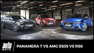 Le match : Porsche Panamera Turbo, Mercedes-AMG E 63 S, Audi RS6. 1 767 ch sur un plateau