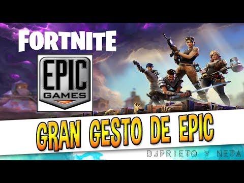ME QUITO EL SOMBRERO | ESPECTACULAR GESTO DE EPIC GAMES EN FORTNITE Y UN JUGADOR