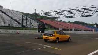 Honda civic 2.0  injector vs audi s3 1/4 mile drag race