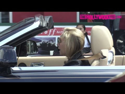 Kym Johnson Drives Her Blue Rolls-Royce Home To Meet Up With Fiance Robert Herjavec