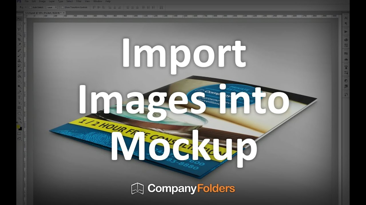 Importing Images into PSD Mockup Templates (2/3) - YouTube