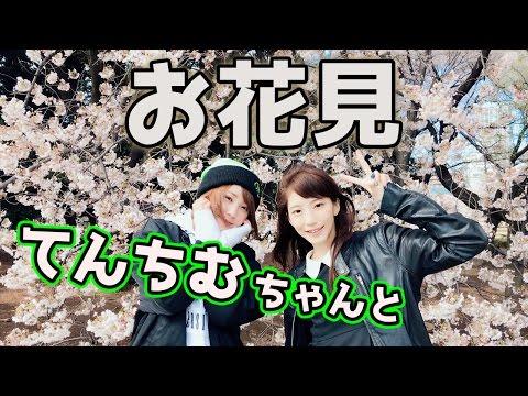 てんちむちゃんとお花見デートin新宿御苑【まみ散歩】