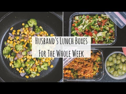 Husbands Lunch Boxes For The Whole Week | Indian Lunch Box Recipes For Office (Veg) | Saloni