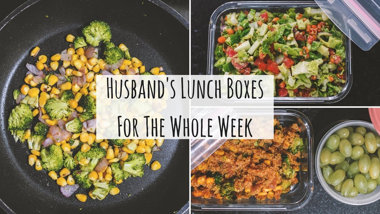 husband's lunch boxes for the whole week | indian lunch box recipes