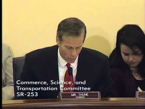 Thune at Commerce on State of Freight Rail