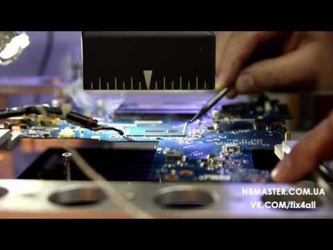 видео: Как легко снять впаянный процессор на платах lenovo