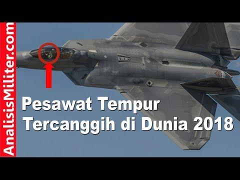 Pesawat Tempur Tercanggih Di Dunia 2018 : F-22 Raptor