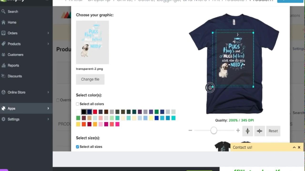 Cách bán áo thun với shopify, viết description và thêm trust seal không cần chỉnh code trong 5 phút