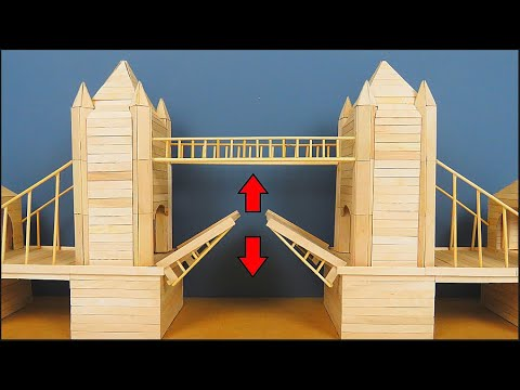 How To Make A Model Of Tower Bridge Using Popsicle Sticks