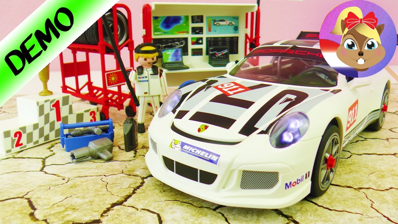 playmobil nieuwe porsche 911 gt3 cup demo nederlands met raceauto pit stop youtube. Black Bedroom Furniture Sets. Home Design Ideas