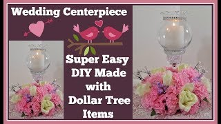 Wedding Centerpiece💍 with Flowers and 💍Globe Candle Holder