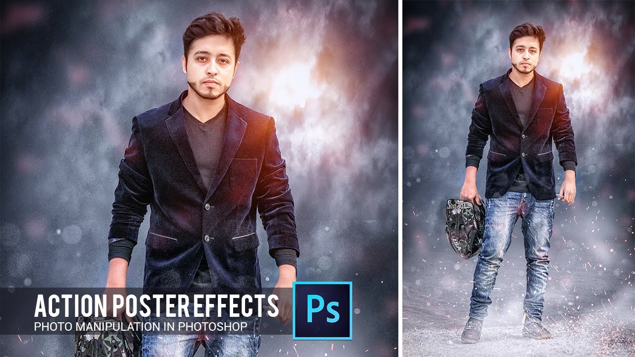 action movie poster effect in photoshop tutorial by hass
