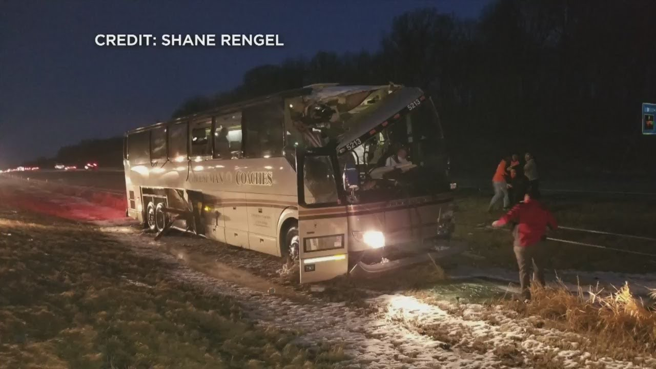 Multiple People Injured When Bus Driver Crashes On I-94