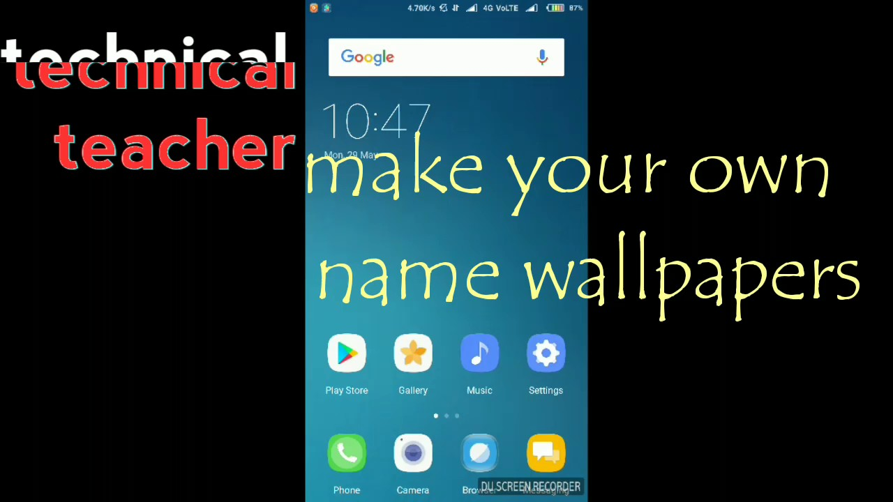 How To Write Name On Any Wallpaper Youtube