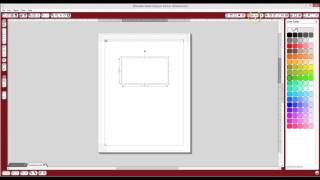 making a print and cut file with a text and drawing tool for silhouette cameo