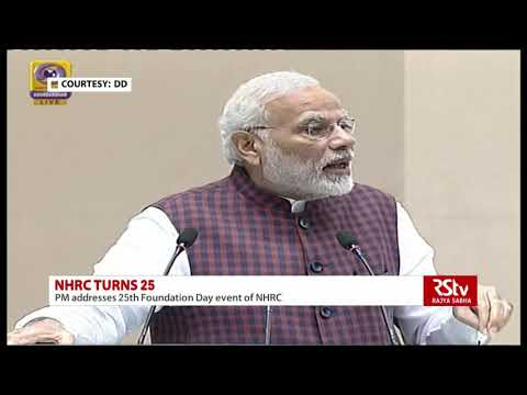 NHRC acts as voice of weaker sections says PM Modi