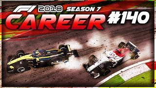BAD MISTAKE TRIGGERS THE SAFETY CAR! - F1 2018 Career Mode Part 140
