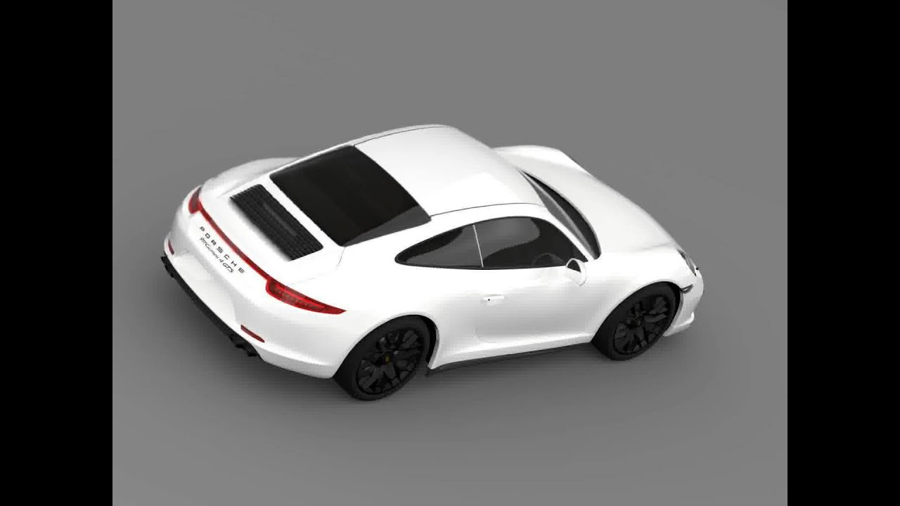 3d Model Of Porsche 911 Carrera 4 Gts Coupe 991 2015 Review Youtube