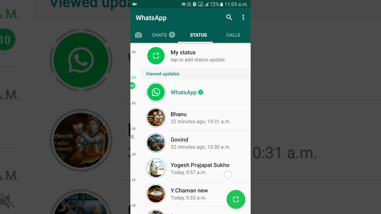 How To Use New Whatsapp Status Feature Hindi