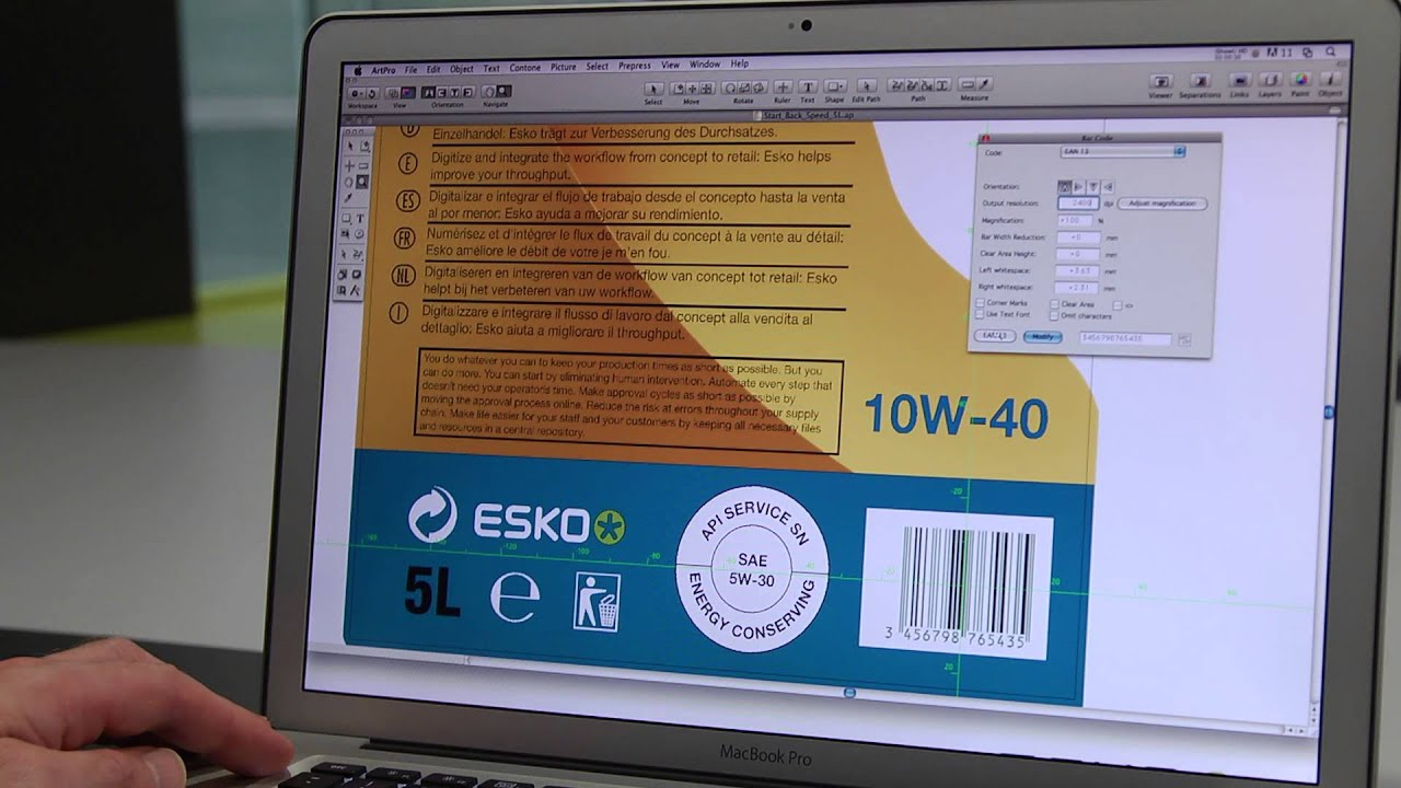 Esko ArtPro - Efficient Packaging Prepress Editor On Mac