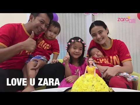 Zara Cute Tiup Lilin Ulang Tahun ke 6 | Selamat Ulang Tahun Anak Perempuan | Pudding Unik Barbie