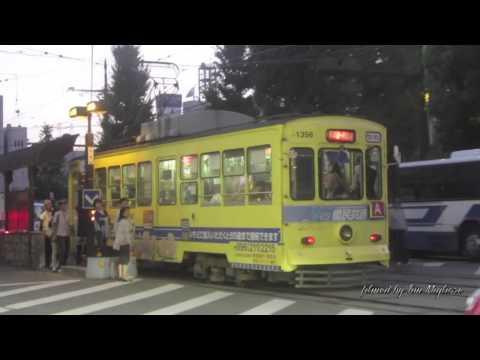 Trams in Kumamoto, Kyushu/Japan