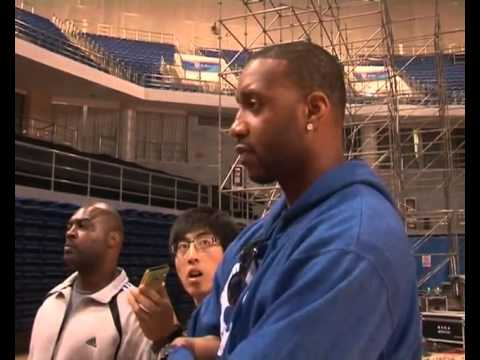 Tracy McGrady first practice in Qingdao Club