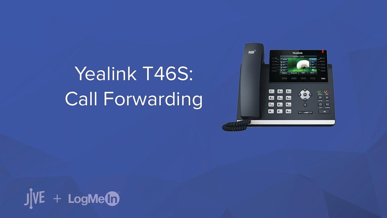Yealink T46S -- How do I set up call forwarding? - YouTube