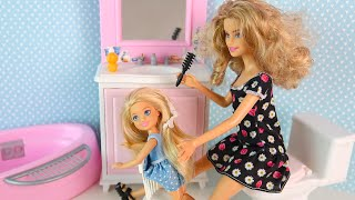 Волосы Придется Отрезать! Мультики для детеи Куклы Барби Про школу Игрушки для девочек ikuklaTV