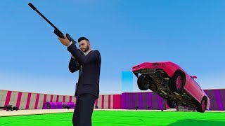 Snipers VS Flying Cars Minigame - GTA V Online Funny Moments   JeromeACE