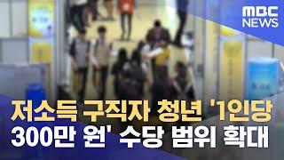 저소득 구직자 청년 '1인당 300만 원' 수당 범위 …