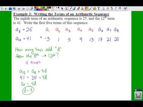 Pre Calculus  Arithmetic Sequences And Partial Sums
