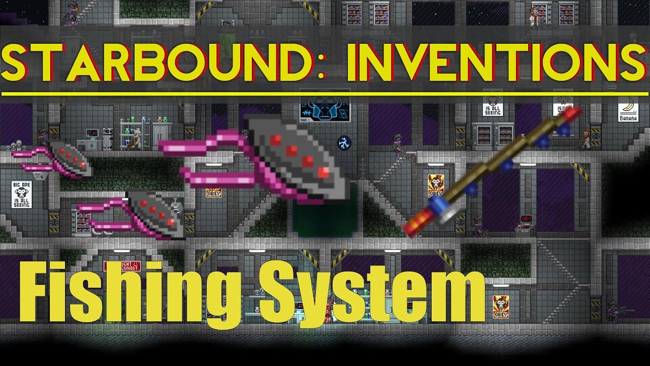 Starbound Inventions: Fish Master 5k (fishing system)
