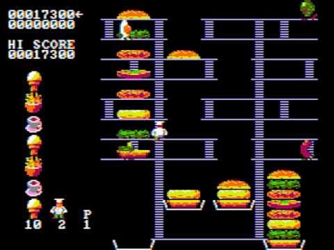Burger Time - PC Game 1982  (CGA Composite Mode)