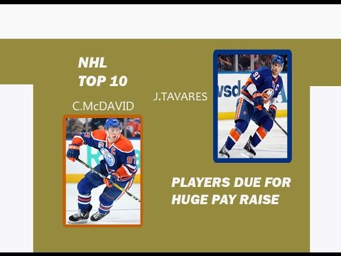 NHL TOP 10 PLAYERS DUE FOR A HUGE PAY RAISE
