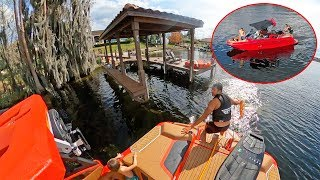 First Boating Accident! (Keren Learns How To Drive A Boat)