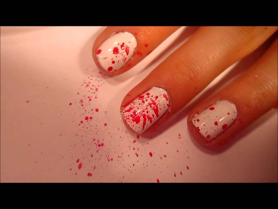 Splatter Paint Nail Tutorial