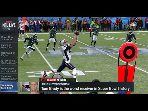 Tom Brady is The Worst Receiver in Super Bowl History? | NFL Live | Feb 5, 2018