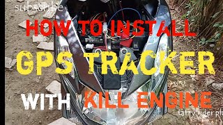 How to install gps tracker on motorcycle. Yamaha mio mxi 125.