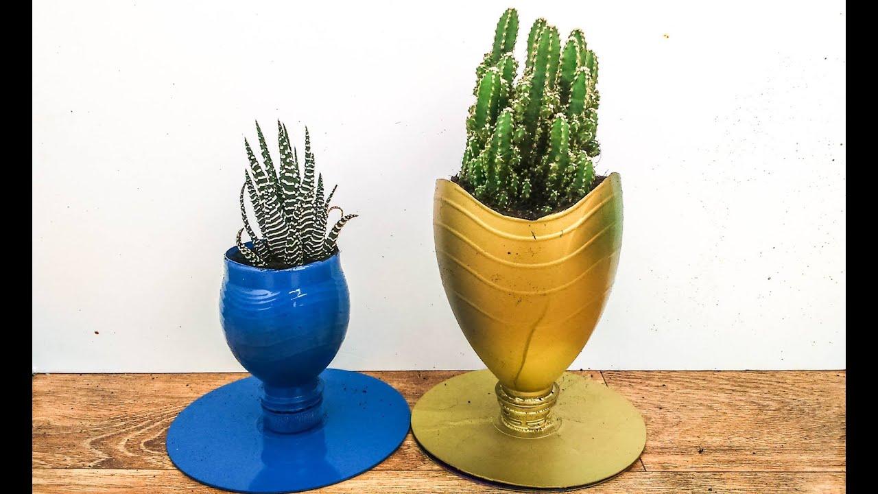 Diy How To Make Flower Pots With Bottle Reuse Crafts