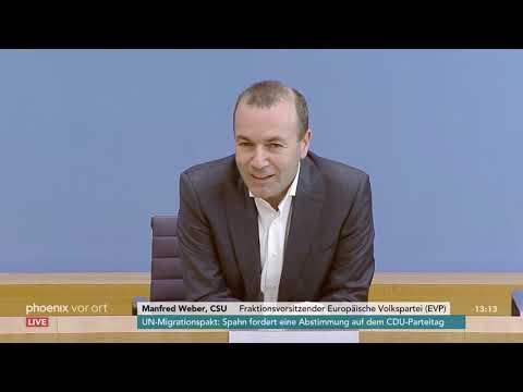 Pressekonferenz von Manfred Weber zum Wahlkampf bei der Europawahl am 19.11.18