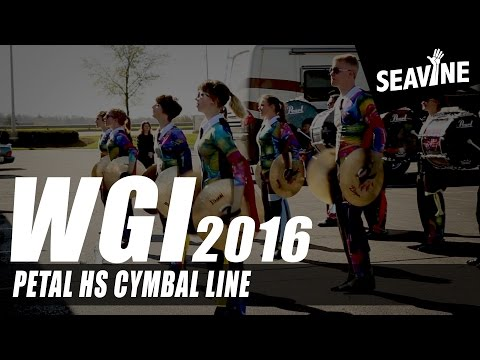 Petal High School Cymbal Line 2016- In the lot with Seavine