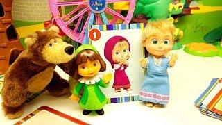 CARTE GIGANTI DEI BAMBINI giochiamo con Dora l'esploratrice e Masha e Orso!! 😅 🐻