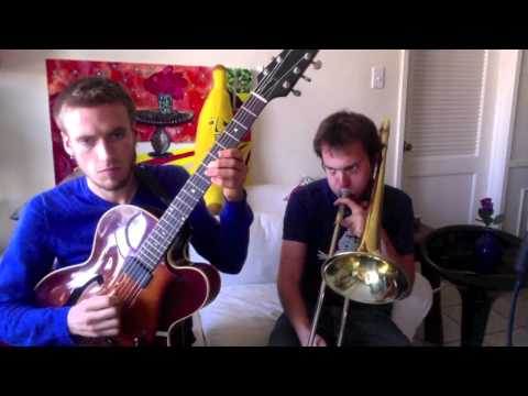 Angry Birds Theme Song - Amazing Guitar and Trombone Duo!
