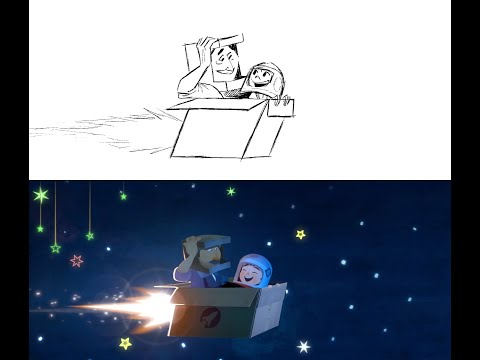 """""""One Small Step"""" Dream Sequence Storyboards"""