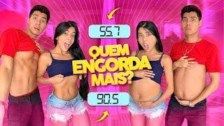 QUEM GANHA MAIS PESO EM 24 HORAS !!